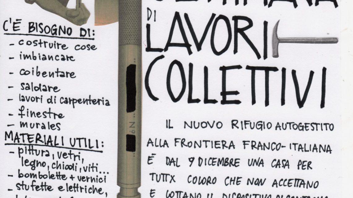 SETTIMANA DI LAVORI COLLETTIVI – Ex Casa Cantoniera Occupata di Oulx