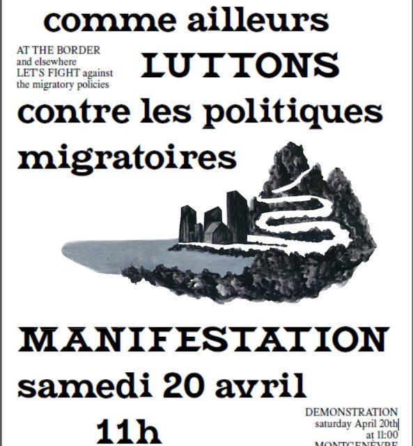Appel à manifester le 20/04 au col de Montgenèvre et dans toutes les villes !