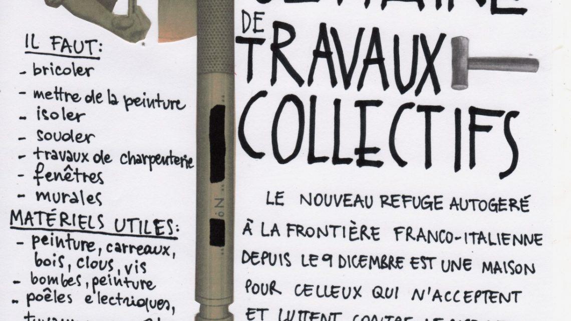 SEMAINE DE TRAVAUX COLLECTIFS – Ex Casa Cantoniera Occupata à Oulx
