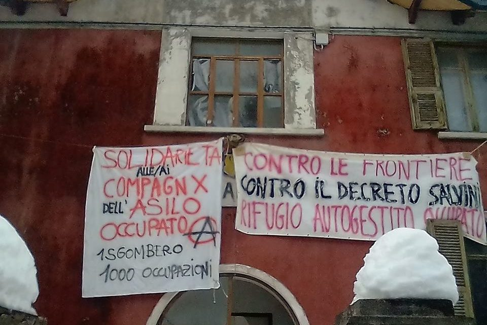 IN SOLIDARITY WITH THE COMPANIONS FROM THE ASILO OCCUPATO WITH ANGER IN OUR HEART