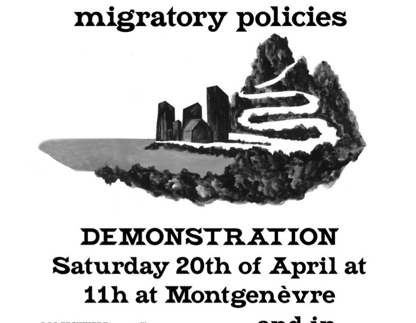 Call for a protest at Montegnèvre on the 20th of April