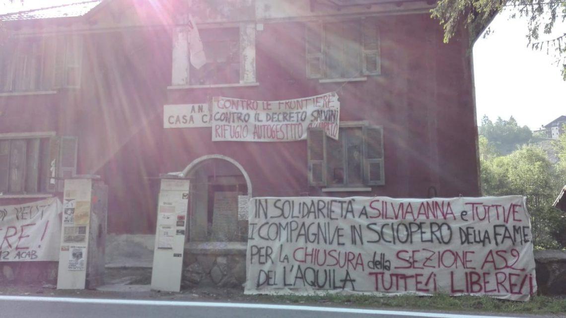 IN SOLIDARIETA' A SILVIA, ANNA, E TUTTE/I COMPAGNE/I IN SCIOPERO DELLA FAME. PER LA CHIUSURA DELLA SEZIONE AS2 DEL CARCERE DE L'AQUILA