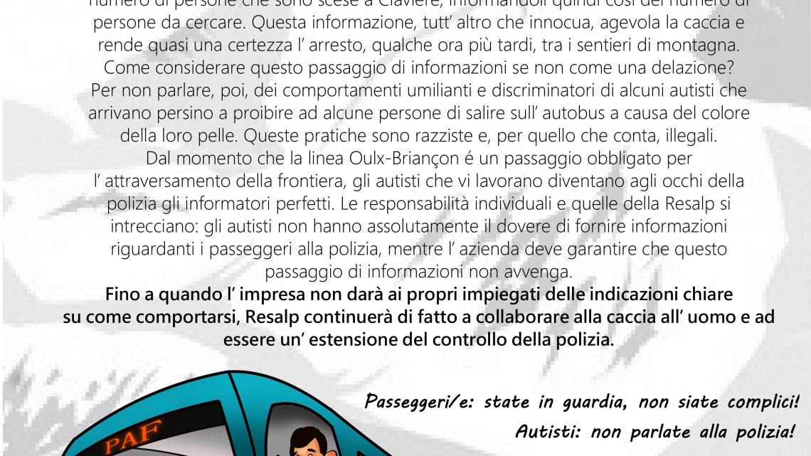 GLI AUTISTI PARLANO… E RESALP TACE. Su come gli autobus diventano strumenti repressivi