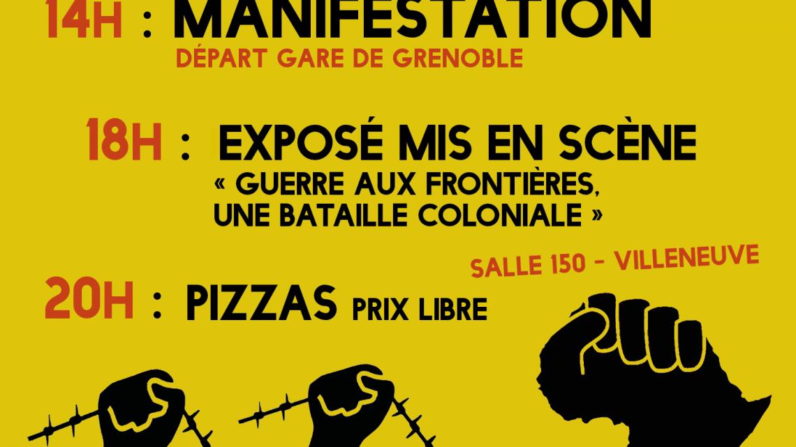 MANIFESTAZIONE l' 8 febbraio a Grenoble – contro le frontiere, gli Stati imperialisti e le loro politiche razziste