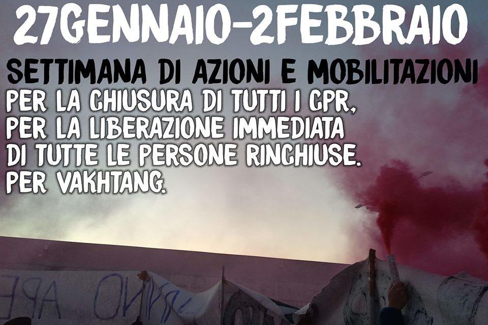 27 Gennaio – 2 Febbraio: settimana di mobilitazioni e azioni contro i CPR