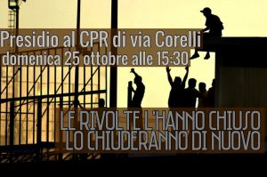 Milan – 25 October – Demonstration in front of the Detention Center in via Corelli
